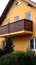Gestaltung von Aussenfassaden und Geländern durch Malerfirma Koch aus Görlitz